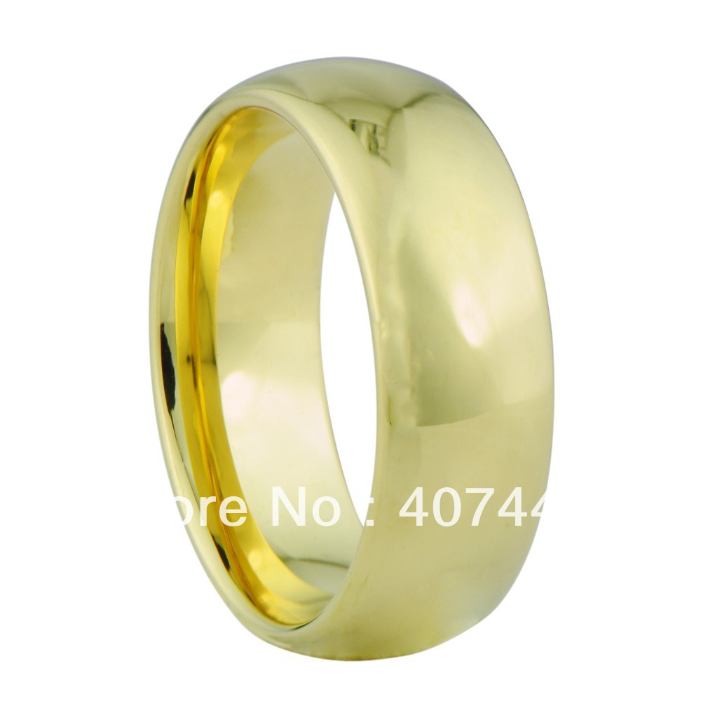 free shipping usa hot sales small cheap price his or her classic mens 39 gold color tungsten. Black Bedroom Furniture Sets. Home Design Ideas