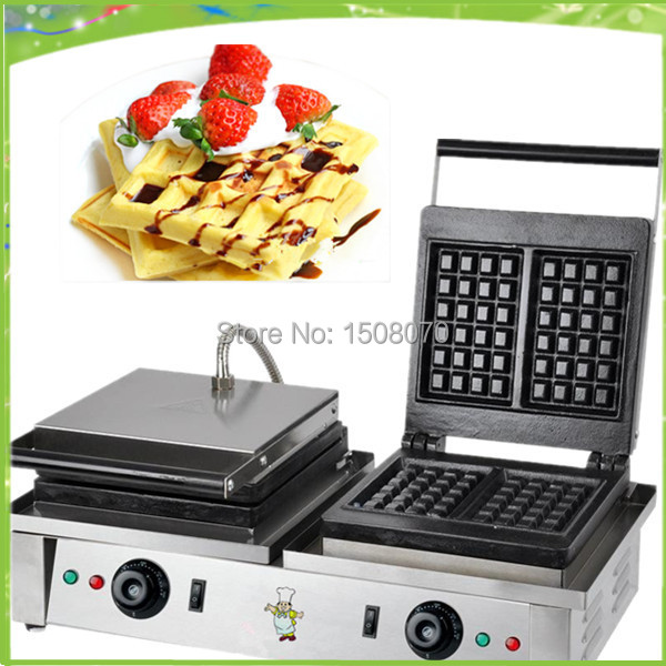Free shipping double pan commercial  waffle machine lolly waffle maker muffin waffle machine waffle stick machine