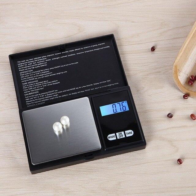 Urijk 1Pcs Precise Digital Scale 100/200/300/500/1000g 0.01/0.1g LCD Display Pocket Gram Weight 4