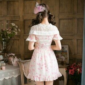 Image 3 - Prenses tatlı lolita elbise yeni şeker tatlı ince kısa kollu Japon tarzı C22AB7066