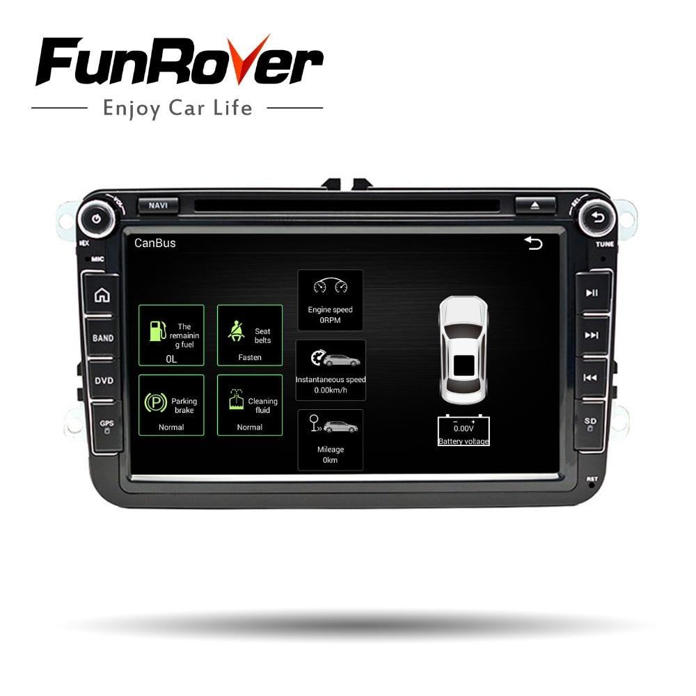 2 DIn Voiture lecteur dvd 8' HD Pour VW POLO GTI DE GOLF 5 6 MK5 MK6 JETTA PASSAT B6 Touran Sharan avec radio gps RDS