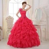 2016 Cheap Ball Gown Quinceanera Dress Sweet 15 Dress Red Pink Blue Fuschia Navy Blue Debutante