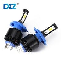 DXZ 72W COB LED Car Headlight Bulbs H4 H7 H11 H8 9005 9006 Hi Lo Beam