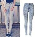 2016 Новая Мода Супер Качество Женщина Высокой Талией Джинсы Женские Тощий Жан Slim Femme плюс размер легкий джинсы