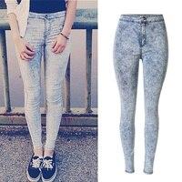 2016 neue Mode Super Qualität Frau Hohe Taille Jeans Damen Dünne Jean Dünne Femme plus größe einfach jeans