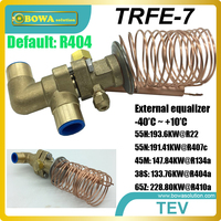 55TR thermostatic expansion valves are great choice for R404a and R23 cascade semi screw compressors freezer equipments