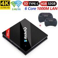 4 Гб 32 gb Rockchip RK3399 ТВ коробка H96 Android 7,1 ТВ коробка 802.11AC 2,4g 5g двойной WI FI BT4.1 1000 M LAN USB3.0 Тип c Media Player