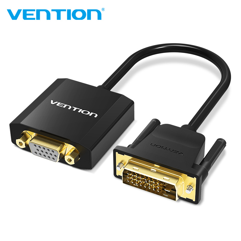 Vention DVI D To VGA Adapter DVI 24+ 1 VGA Converter Cable Digital Analog Audio Converter 1080P for Xbox PS3 Laptop TV box vention hdmi to vga adapter converter cable analog video audio with micro usb aux interface for xbox 360 ps4 pc laptop tv box