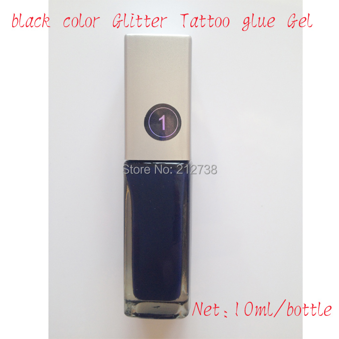 Free shipping 1pcs black color glitter tattoo glue gel for Cheap tattoo supplies free shipping