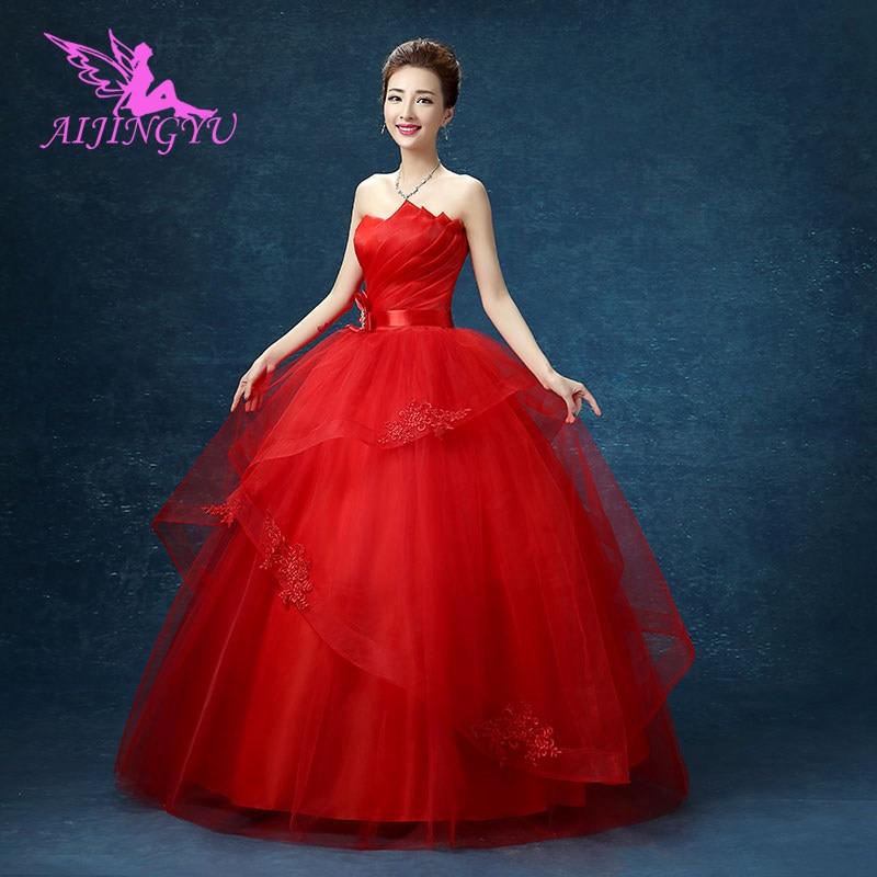 AIJINGYU Red Dresses Lot Luxury 2018 Wedding Dress WK776