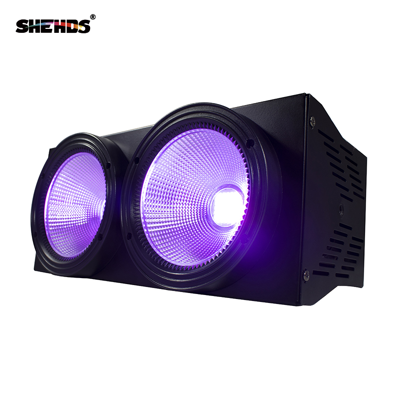 Fast Shipping 2eyes 200W LED COB Blinder Violet Lighting DMX512 Stage Lighting Effect Audience Lighting DJ Equipment Disco цена