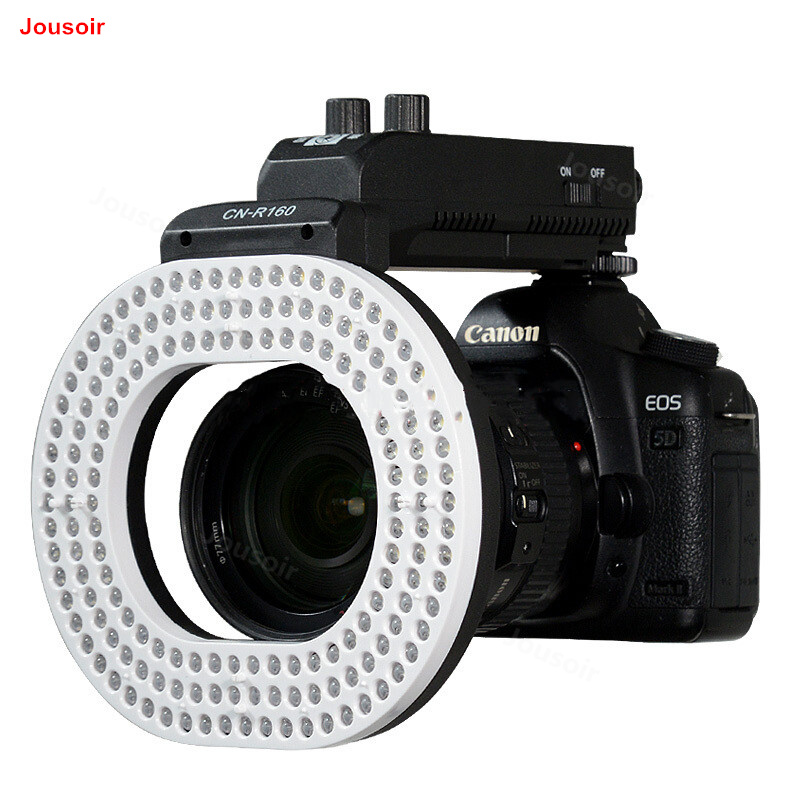 CN-R160 LED Ring Photography Lamp Shooting Fill Light News SLR Camera Lamp Jewelry Jewelry Photo Lamp Macro Lamp CD50 T01