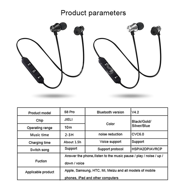 FGCLSY Magnetic bluetooth earphone