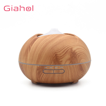GIAHOL 400ml Aromatherapy Aroma Diffuser With Wood Grain 7 Color LED Light For Home Air Humidifier
