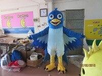 blue big mouth bird mascot costume EVA plush adult size cartoon clothing The legend of Condor Hero animal bird Halloween mascot