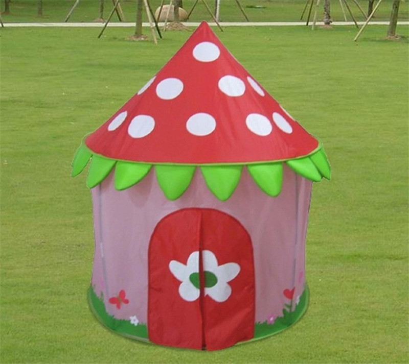 Zewik Kids Magic House Tent Princess Strawberry Style Castle Play House Tent Toy Outdoor Tunnel Toy Christmas gift for Girls-in Playhouses from Home ... & Zewik Kids Magic House Tent Princess Strawberry Style Castle Play ...