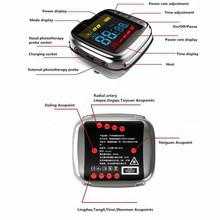 Medical instrument semiconductor laser therapy watch blood sugar reduce watches red light 13 beams home use health care