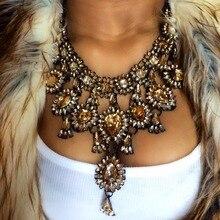 MYDANER New Fashion Jewelry Charm Collar Pendant Choker Maxi Necklace for Women Waterdrop Statement Wedding Jewelry Wholesale
