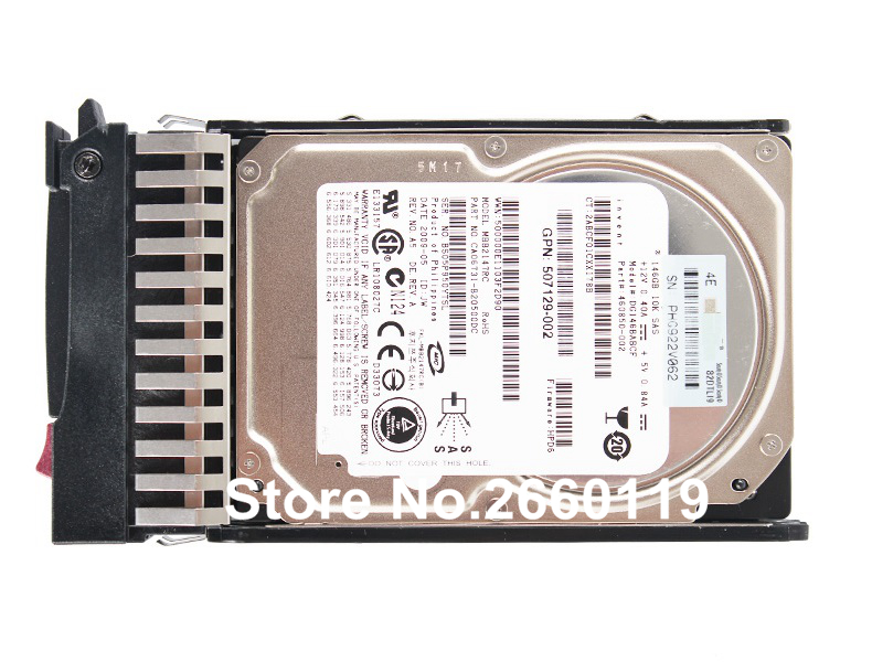 100% working original server hard disk drive for HP 507125-B21 507283-001 146GB SAS 10K 2.5 HDD with good quality free ship whole sale server hard disk drive 81y9690 81y9691 1t 7 2k sas 2 5 hdd for x3650m3