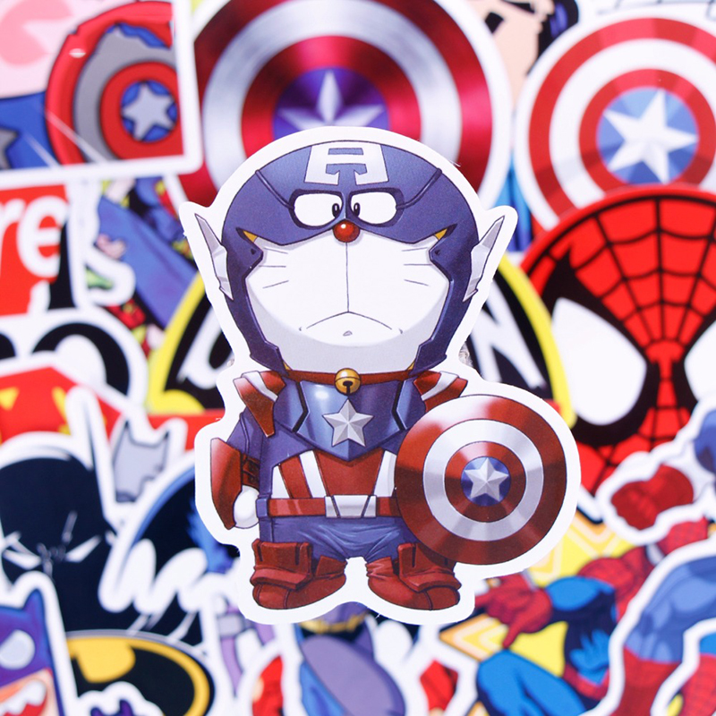 Super Hero Cartoon Style Mix Stickers 50pcs/set For Kids Skateboard Laptop Luggage Motor ...
