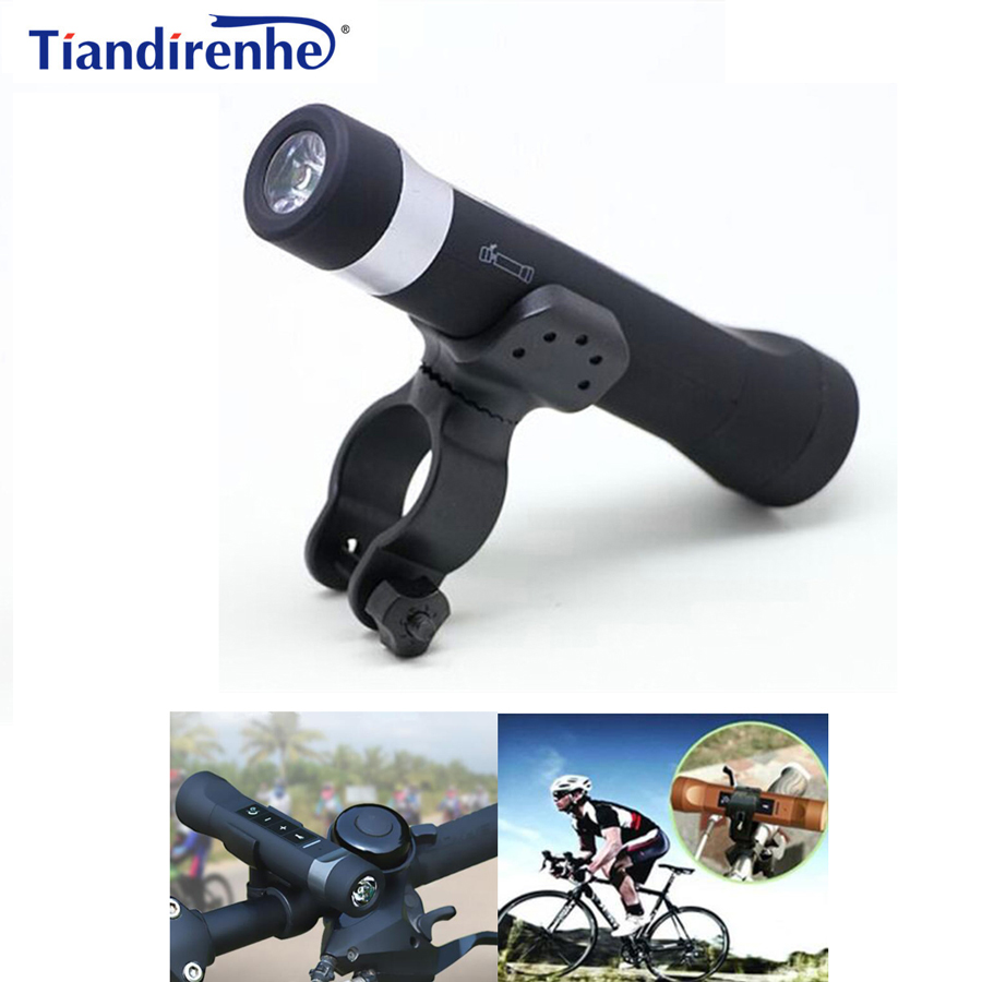 Tiandirenhe 5 in 1 Bluetooth Speaker Power Bank Portable Bike Cycling Music Torch MP3 LED Flashlight 2600mAh with Bicycle Holder