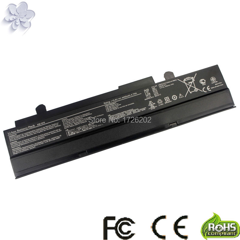 Black Laptop battery For Asus Eee PC VX6 1011 <font><b>1015</b></font> 1015P 1015PE 1016 1215N 1215B A31-<font><b>1015</b></font> <font><b>A32</b></font>-<font><b>1015</b></font> AL31-<font><b>1015</b></font> PL32-<font><b>1015</b></font> image