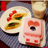 BEST Home Sandwich Mold Love Heart Shaped Bread Toast Making Mold Mould Toast Cutter Sandwiches Maker