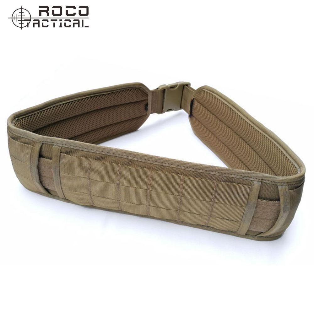 ROCOTACTICAL Tactical Molle Waist Belt Tactical Hunting Molle Battle Belt Military Combat Padded Patrol Belt Tactical Waistband цены онлайн
