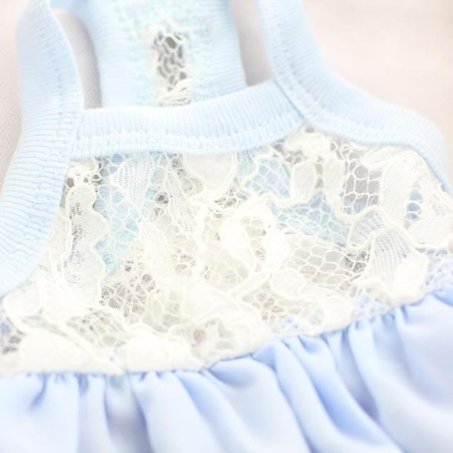 Princess Bubble Lace Female Dog Strap Dresses Clothes for Dogs Cat Wear Products for Pets Yorkie Maltese Chiwawa 2017 Spring