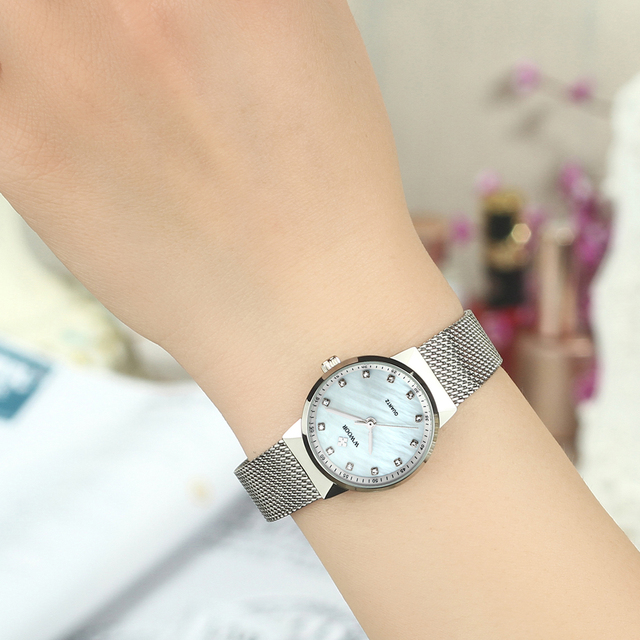 WWOOR Women's Watches Top brand Stainless steel strap Quartz Watch Lady Fashion ultra-thin dial Bracelet Women Female Clock Gift