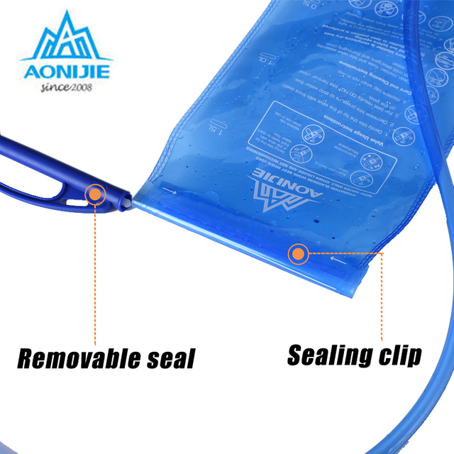 AONIJIE Water Bladder Soft Drinking Flask Hydration Bladder Hiking Travel Waterbag 1L 1.5L 2L 3L 3