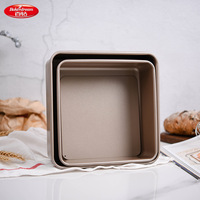 Bakerdream Square Bakeware Carbon Steel Bread Cake Pans with Removable Bottom Nonstick Baking Pan Dishes Cake Mold