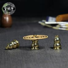The golden snail hoist holder inserted into the buddhist temple sweet dish gift collection
