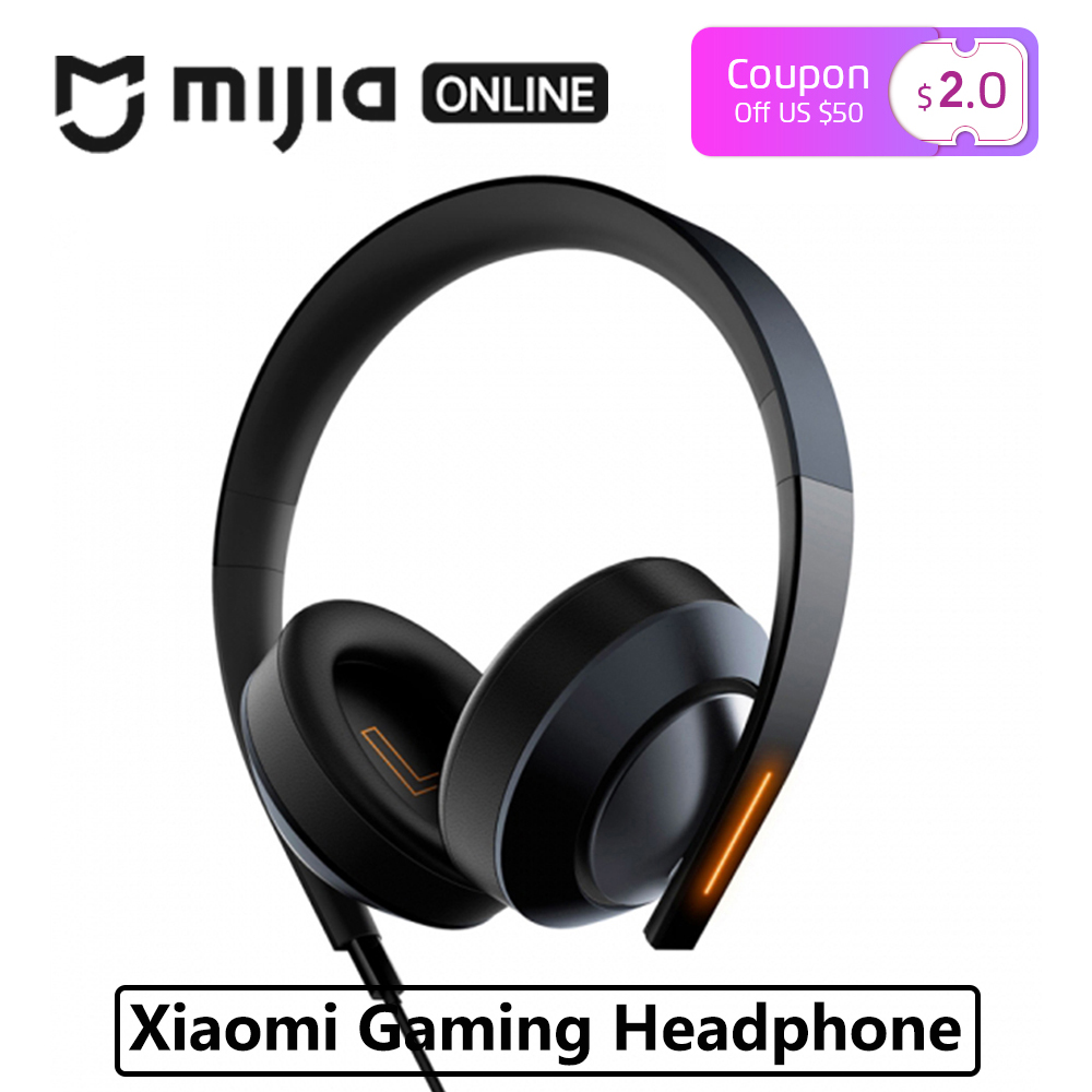 Xiaomi Mi Gaming Headphone 7 1 Virtual Surround Stereo With Backlit Anti noise Headset Stereo Heavy