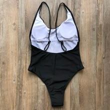 Sexy Letter Print Bikini Women One Piece Swimsuit Monokini Fashion Swimsuit One-Piece Suits Thong Backless Bathing Suis Swimwear