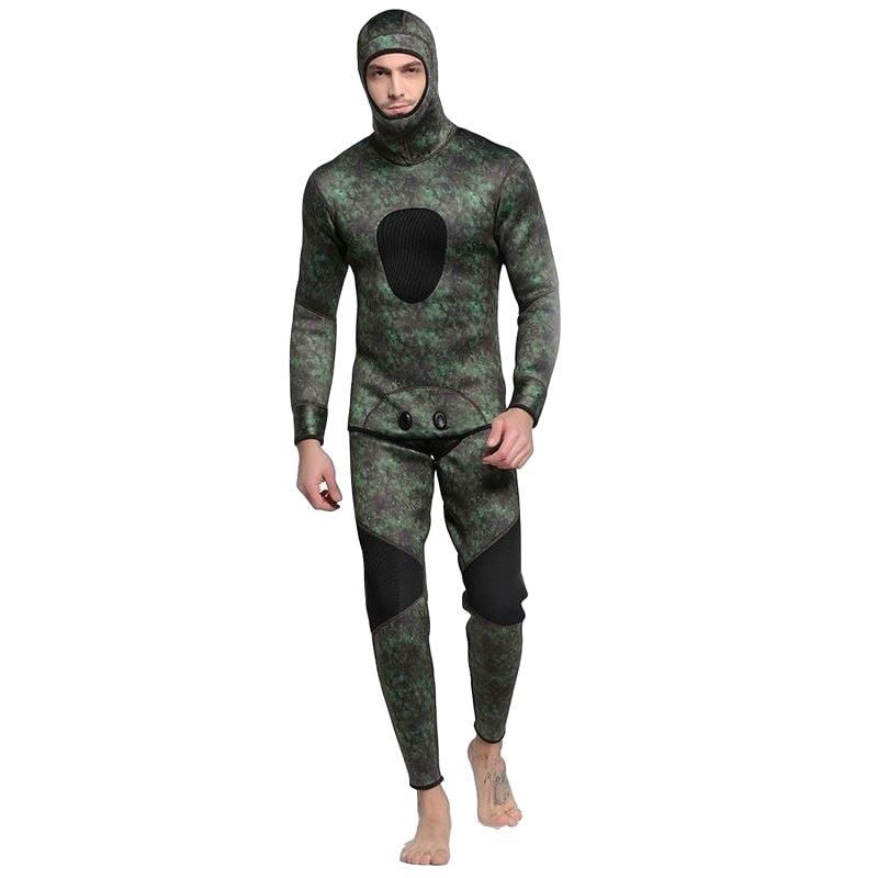 все цены на 2018 Camouflage Men Wetsuit Spearfishing 3mm Neoprene Keep Warm Swimsuit Dive Surf Swim Wet Suit Swimwear Long sleeve Beach Wear