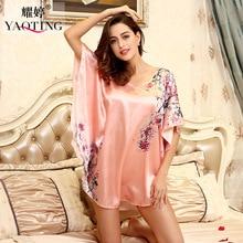 Hot Sale Women Nightgowns Summer Women Sleepshirts Beautiful Nightdress Women Plus Size Printed Dressing Gown Intimissimi 6xl