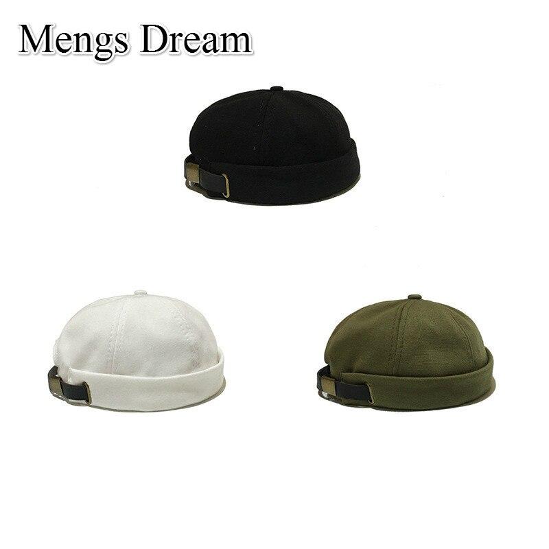 2019 New Arrival Men Women Skullcap Hat Cap Casual Docker Sailor Mechanic Brimless Solid Color Korean