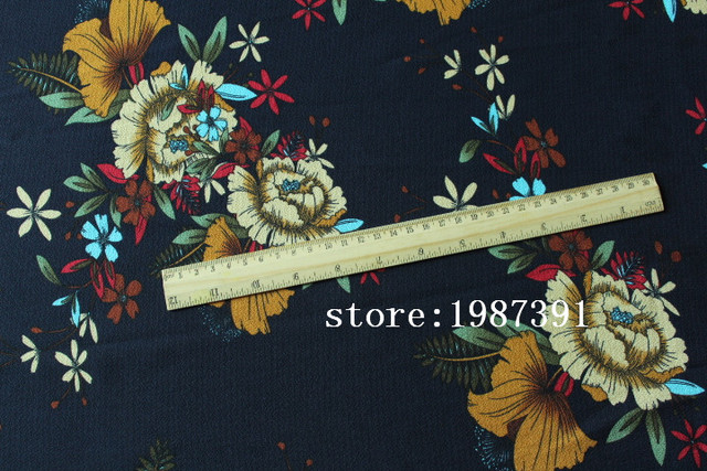 145cm width paris pearl fabric  big flowers pattern for summer women clothes and DIY Hair Accessory CH-7603