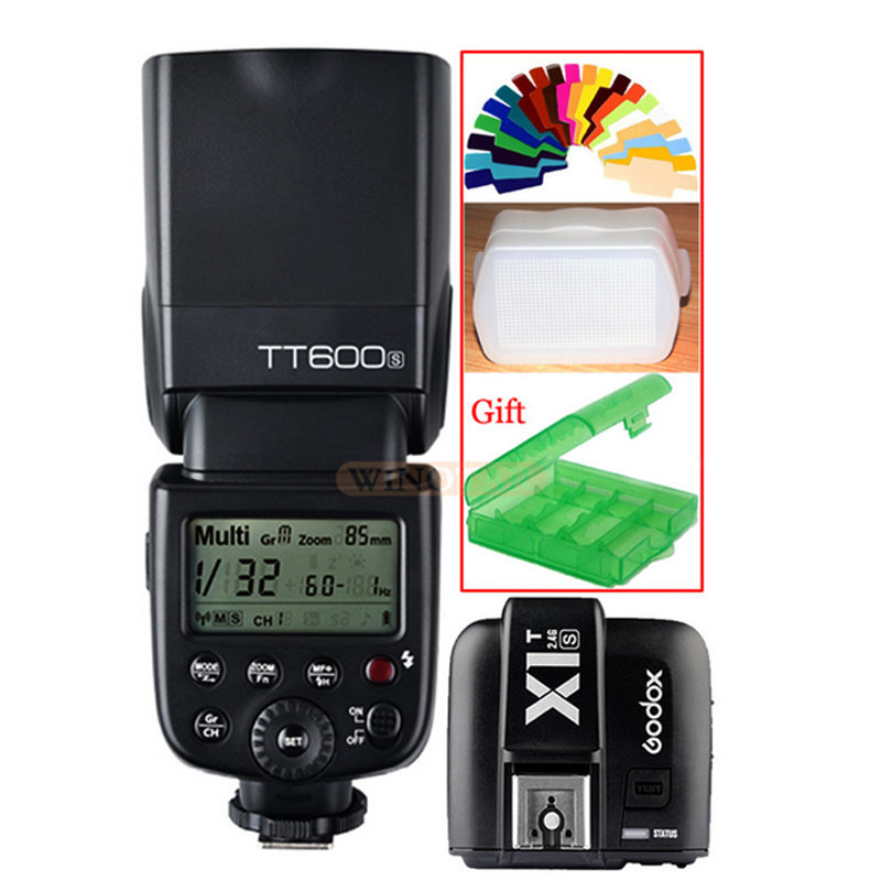 Godox TT600s HSS GN60 2.4G Camera Speedlite Flash Light+ X1T-S Transmitter Trigger for Sony A7 A7S A7R A7 II A6000 A58 A99 A6300 pixel x800s standard gn60 hss ttl flash speedlite 2pcs king pro 2 4g flash trigger transceivers for sony a7 a7s a7r a7rii