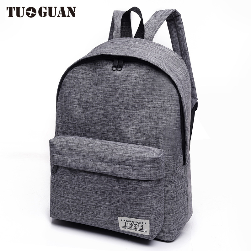 цены  TUGUAN Canvas Men/Women Backpack Student School Bags for Teenager Girls Boy Travel Back Pack Rucksack Bagpack Schoolbag Female
