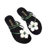 2017 New Stylish Summer Women Shoes Slides Metal Women Shoes Chains Flip Flops Flats Fashion Beach