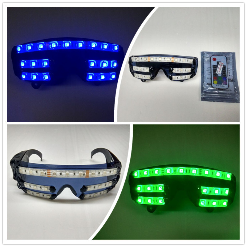 Wecool New Arrival Light 7 colors LED Glowing Flash LED Glasses with Rechargeable Battery for DJ/Party/Christmas Holiday