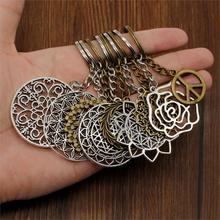 Hot Sale Key Chain Ring Carve Flower Car Keychain High Quality Handmade Holder Souvenir For Women