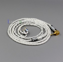 LN006352  99.99% Pure Silver XLR 3.5mm 2.5mm 4.4mm Earphone Cable For QDC Gemini-S Anole V3-C V3-S V6-C V6-S Neptune UE18 U