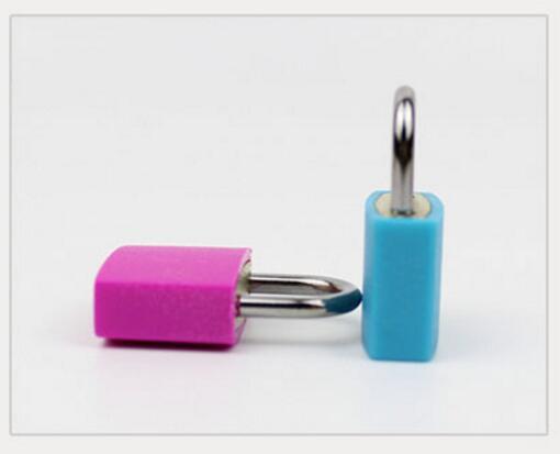 10pcs lot 23mm Neon Colored Plastic Padlock Travel Luggage Padlocks Lock in Locks from Home Improvement