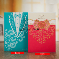 10psc Wedding Invitation Card Flower Birthday Party Supplies Decoration Mariage Invitations Personalized Custom Free Printed