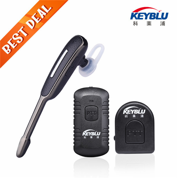 Two Way Radio Bluetooth Headset For Kenwood PTT Speaker Microphone Motorola Earpiece PC