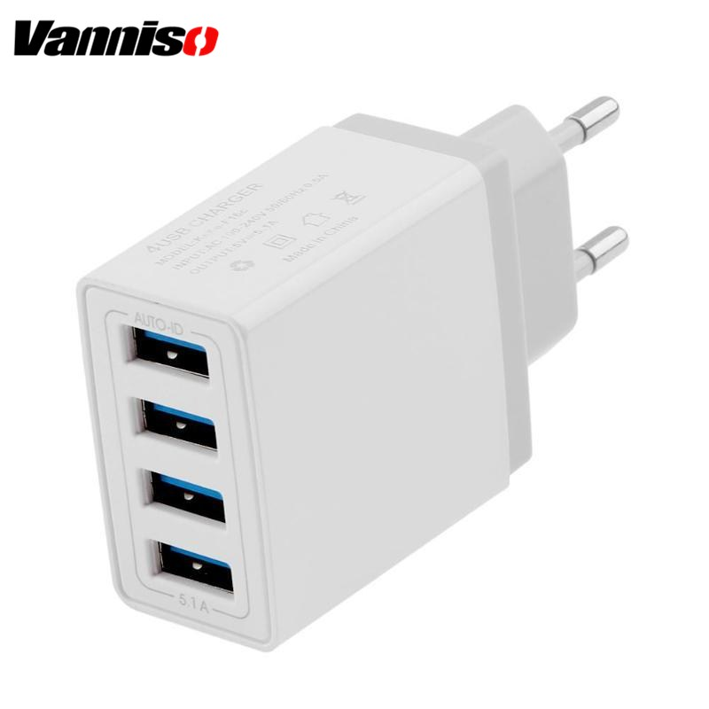 Universal USB Charger 5V 5.1A Travel USB Charger for iPhone X Mobile Ph