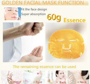 Image 4 - 10 Stuks Huidverzorging Vel Maskers Gouden Masker Anti Rimpel Whitening Gezichtsmasker Anti Aging Hydraterende Collageen Gezichtsmasker Promotionele
